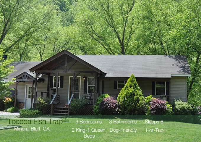 Mineral Bluff, GA Vacation Cabin Rental Toccoa River Book Today @ 706-781-3892