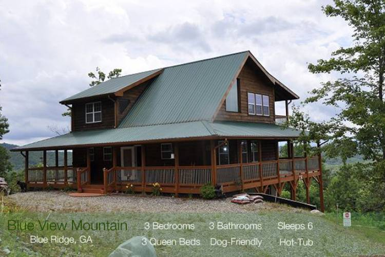 Murphy NC Vacation Cabin Rental Fantastic Mountain Views Book Today @ 706-781-3892
